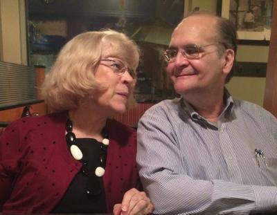 Vicki with Bob